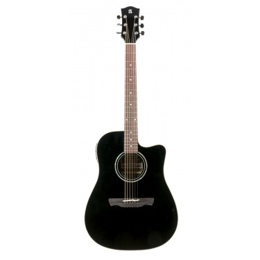 Alhambra Appalachian W-300 B CW Black Guitarra acustica