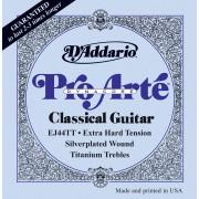 D'Addario EJ44TT Pro-Arté DynaCore Cordes de guitare classique Tension Extra Forte