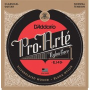 D'Addario EJ49 Pro-Arté Black Nylon, Normal Tension. Classical guitar strings