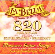 La Bella Flamenco Strings 820 Red Nylon