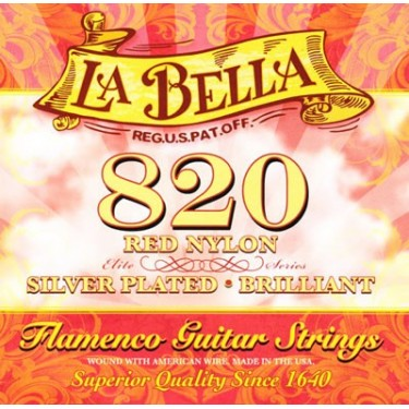 Cuerdas La Bella 820 Flamenco Red Nylon