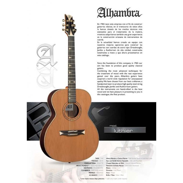 alhambra j luthier guitare acoustique meilleurs prix pour. Black Bedroom Furniture Sets. Home Design Ideas
