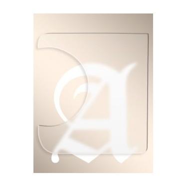 Golpeador Transparente Alhambra (20x20)