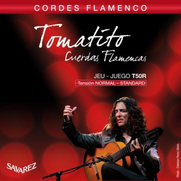 Cuerdas de guitarra flamenca Savarez Tomatito T50R Normal Tension