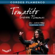 Cuerdas de guitarra flamenca Savarez Tomatito T50J Tension Fuerte