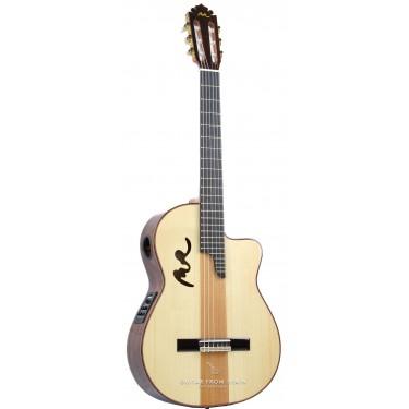 Manuel Rodriguez B CUT SOL Y SOMBRA BRILLO Guitare classique électro