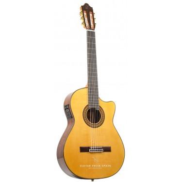 Camps FL11C NEGRA Guitarra Flamenca electrificada