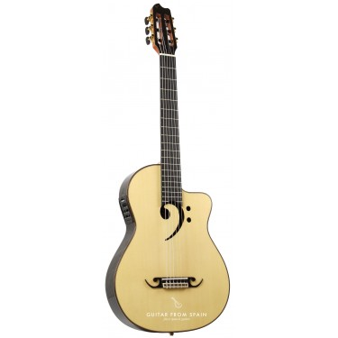 Raimundo Clave de FA-E elektroakustische Bariton Gitarre