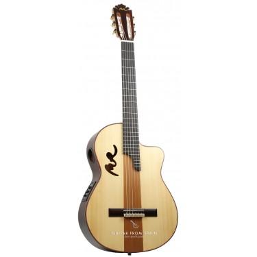 Manuel Rodriguez B CUT Boca MR Sol y Sombra Electro-Classical guitar