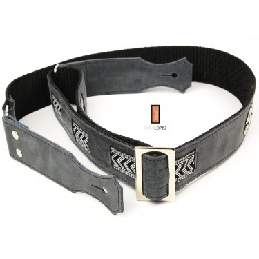 guitar strap Paco Lopez PLE-08 BK for acoustic and electric guitar