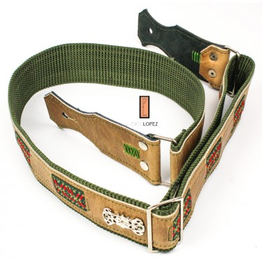 guitar strap Paco Lopez PLE-08 GR for acoustic and electric guitar