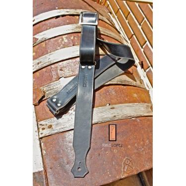 Guitar strap Paco Lopez PLE1NAT BK XL