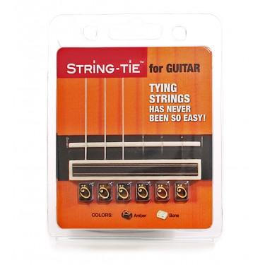 STRING-TIE para guitarra Negro