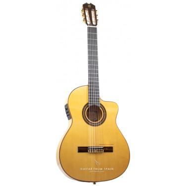 Prudencio Saez 5-CW (57) Elektro Akustik Flamenco-Gitarre