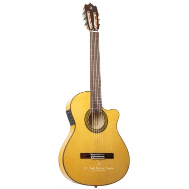 Alhambra 3FCT E1 Cutaway Flamenco guitar - Thin body