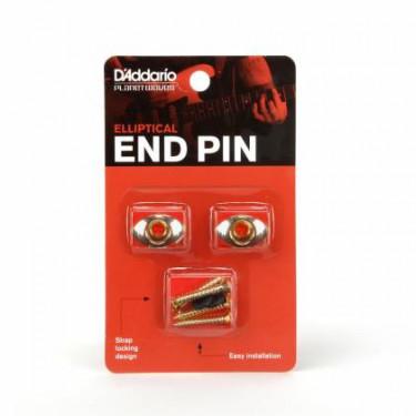 Planet Waves PWEEP302 Elliptical End Pin Gold Sicherheitsgurtpins für Gitarre