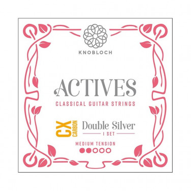 Knobloch Actives Double Silver Carbon CX 300ADC Medium Tension Strings