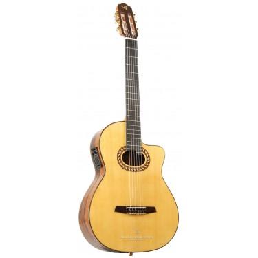 Prudencio Saez 7CW (90) Guitarra Electro Clásica con golpeador