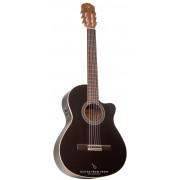 Alhambra Black Satin CW EZ guitare classique électro