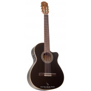 Alhambra Black Satin CW EZ guitarra electro clásica