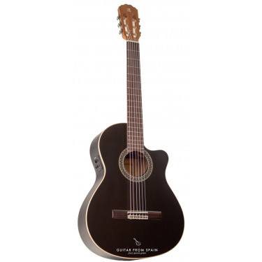 Alhambra Black Satin CW EZ electro classical guitar
